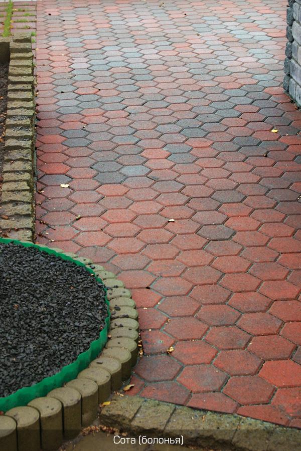 Глянцевая тротуарная плитка своими руками